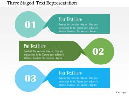 Three Staged Text Representation Flat Powerpoint Design