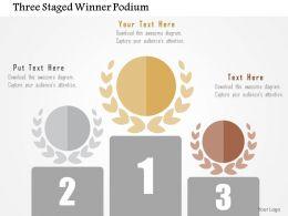 three_staged_winner_podium_flat_powerpoint_design_Slide01
