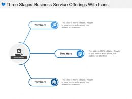 Three Stages Business Service Offerings With Icons