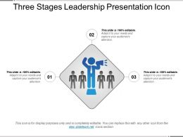 Three Stages Leadership Presentation Icon