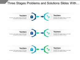 Three Stages Problems And Solutions Slides With Icons