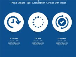Three Stages Task Competition Circles With Icons