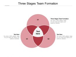 Three Stages Team Formation Ppt Powerpoint Presentation Show Brochure Cpb