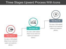 Three Stages Upward Process With Icons