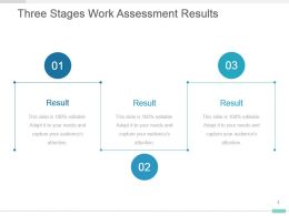 Three Stages Work Assessment Results Powerpoint Template Design