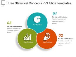 Three Statistical Concepts Ppt Slide Templates