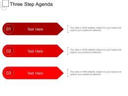 Three Step Agenda