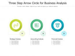 Three Step Arrow Circle For Business Analysis