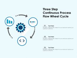 Three Step Continuous Process Flow Wheel Cycle