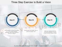 Three Step Exercise To Build A Vision