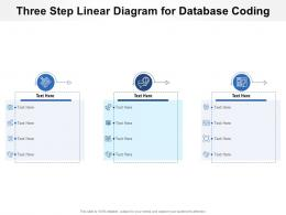 Three Step Linear Diagram For Database Coding Infographic Template