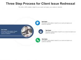 Three Step Process For Client Issue Redressal Infographic Template