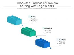 Three Step Process Of Problem Solving With Lego Blocks