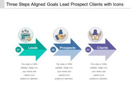 Three Steps Aligned Goals Lead Prospect Clients With Icons