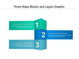 Three Steps Blocks And Layers Graphic