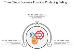 Three Steps Business Function Producing Selling Supporting Development