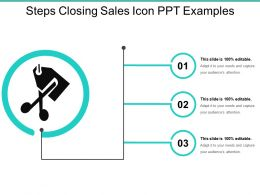 Three Steps Closing Sales Icons