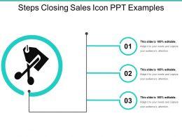 Three Steps Closing Sales Icons