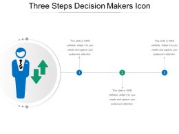 Three Steps Decision Makers Icon