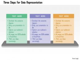 Three Steps For Data Representation Flat Powerpoint Design
