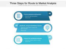 Three Steps For Route To Market Analysis