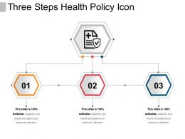Three Steps Health Policy Icon