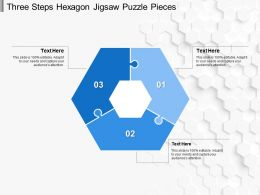 Three Steps Hexagon Jigsaw Puzzle Pieces
