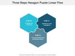 Three Steps Hexagon Puzzle Linear Flow