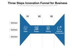 Three Steps Innovation Funnel For Business