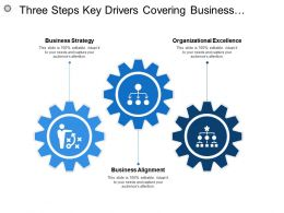 Three Steps Key Drivers Covering Business Strategy Alignment Operations Controls And Management