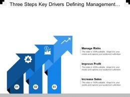 Three Steps Key Drivers Defining Management Risks Improve Profit And Increase Sales