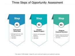 Three Steps Of Opportunity Assessment