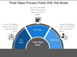 Three Steps Process Points With Text Boxes
