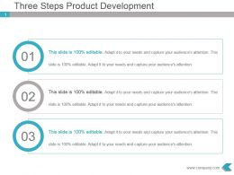 Three Steps Product Development Ppt Presentation Visual