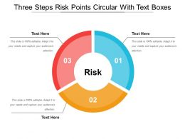 Three Steps Risk Points Circular With Text Boxes