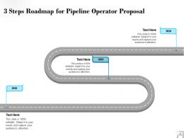 Three Steps Roadmap For Pipeline Operator Proposal Ppt Powerpoint Visual Aids Layouts
