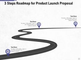Three Steps Roadmap For Product Launch Proposal Ppt Powerpoint Presentation Summary Skills