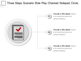 Three Steps Scenario Role Play Checked Notepad Circle