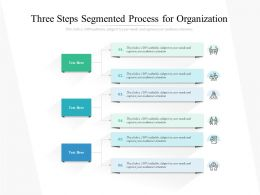 Three Steps Segmented Process For Organization