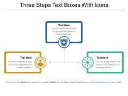 Three Steps Text Boxes With Icons