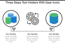 Three Steps Text Holders With Gear Icons