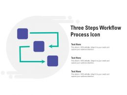 Three Steps Workflow Process Icon