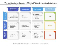 Three Strategic Arenas Of Digital Transformation Initiatives