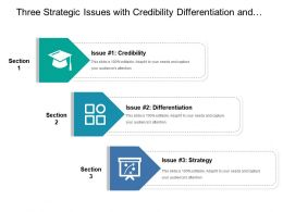 Three Strategic Issues With Credibility Differentiation And Strategy