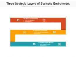 Three Strategic Layers Of Business Environment