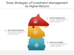 Three Strategies Of Investment Management For Higher Returns
