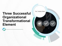 Three Successful Organizational Transformation Element Powerpoint Presentation Slides