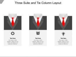 Three Suite And Tie Column Layout