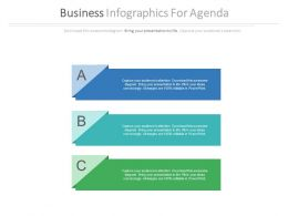 Three Tags Business Infographics For Agenda Flat Powerpoint Design