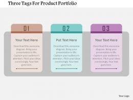 Three Tags For Product Portfolio Flat Powerpoint Design